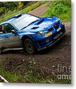M. Cairns Driving Subaru Impreza Metal Print