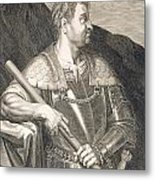 M Silvius Otho Emperor Of Rome Metal Print by Titian