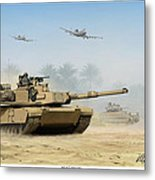 M1a2 Abrams Metal Print by Mark Karvon