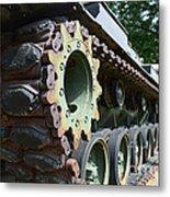 M60 Patton Artillery Tank Tread Metal Print
