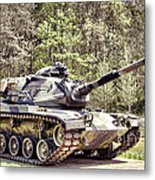 M60 Patton Tank Metal Print by Olivier Le Queinec
