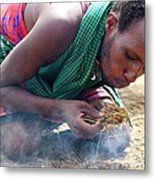 Maasai Fire Maker Metal Print
