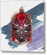 Maasai Mask - The Rain God Ngai Metal Print