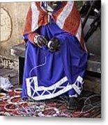 Maasai Woman Metal Print