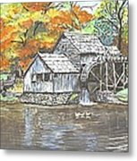 Mabry Grist Mill In Virginia Usa Metal Print