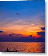 Mabul Island Sunset Borneo Malaysia Metal Print