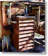 Micabrite Plant Rusty Gold Metal Print