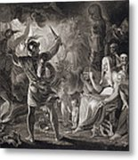 Macbeth, The Three Witches And Hecate Metal Print