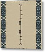 Maccabe Written In Ogham Metal Print
