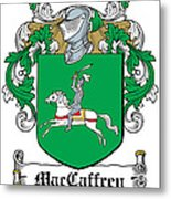 Maccaffery Coat Of Arms Irish Metal Print