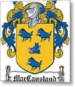 Maccausland Coat Of Arms Irish Metal Print