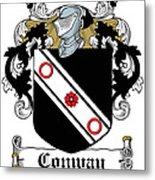 Macconway Coat Of Arms Irish Metal Print