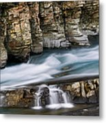 Macdonald Creek Falls Glacier National Park Metal Print