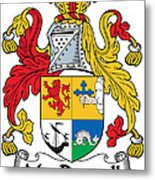 Macdonnell Coat Of Arms Of The Glens Metal Print