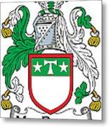 Macdrury Coat Of Arms Irish Metal Print