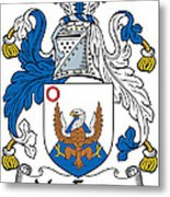 Macenery Coat Of Arms Irish Metal Print