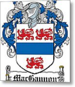 Macgannon Coat Of Arms Irish Metal Print