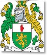 Macgenis Coat Of Arms Irish Metal Print