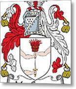 Macgowan Coat Of Arms Irish Metal Print