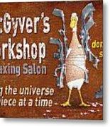 Macgyvers Workshop Metal Print