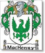 Machenry Coat Of Arms Ulster Ireland Metal Print