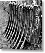 Machine Fragment Metal Print