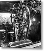 Machine Of The Old Train Metal Print