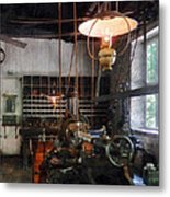 Machine Shop With Lantern Metal Print