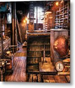 Machinist - Ed's Stock Room Metal Print by Mike Savad