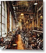 Machinist - Machine Shop Circa 1900's Metal Print by Mike Savad