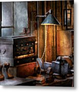 Machinist - My Workstation Metal Print by Mike Savad