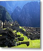 Machu Picchu And Urubamba Canyon Metal Print