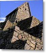 Machu Picchu Hut Peru Metal Print