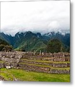 Machu Picchu Main Square And The Group Of The Three Doorways Metal Print