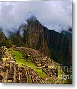 Machu Picchu Overlook Metal Print