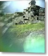 Machu Picchu Reflection Metal Print