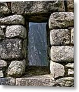 Machu Picchu Window Metal Print
