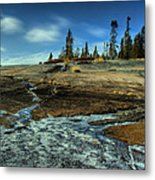 Mackenzie Point Outcrop Metal Print