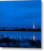 Mackinac Bridge At Dawn Metal Print