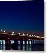 Mackinac Bridge Just After Sunset Metal Print