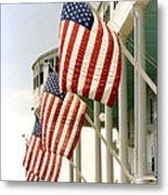 Mackinac Island Michigan - The Grand Hotel - American Flags Metal Print