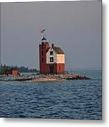 Mackinac Lighthouse Metal Print