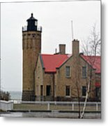 Mackinaw Point Lighthouse Metal Print