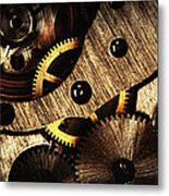 Macro Mechanic Metal Print