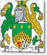 Macshanley Coat Of Arms Irish Metal Print