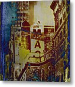 Macys Three - Neo-grundge - Famous Buildings And Landmarks Of New York City Metal Print