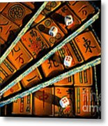 Mad For Mahjong Metal Print