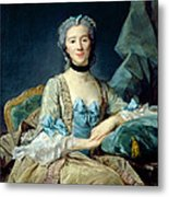 Madame De Sorquainville, 1749 Oil On Canvas Metal Print