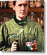 Madame Marie Curie Shaking Up A Killer Martini At The Swank Hipster Club 88 20140625 Metal Print