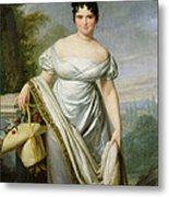 Madame Tallien 1773-1835 Oil On Canvas Metal Print